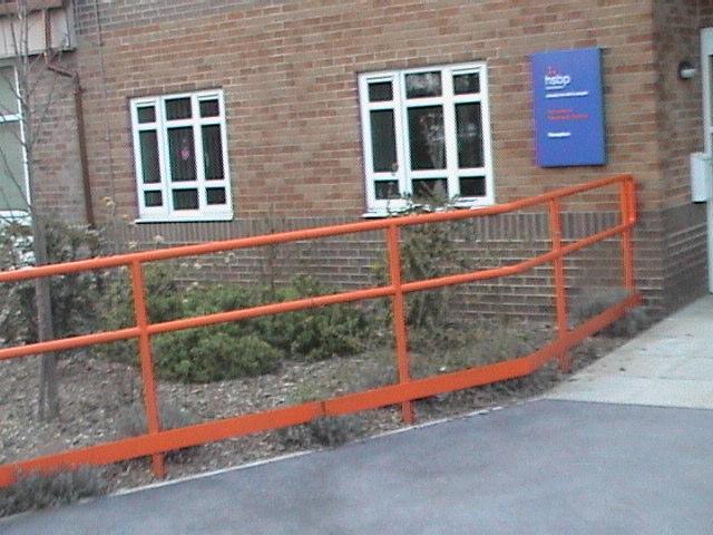 Henshaws College external handrail