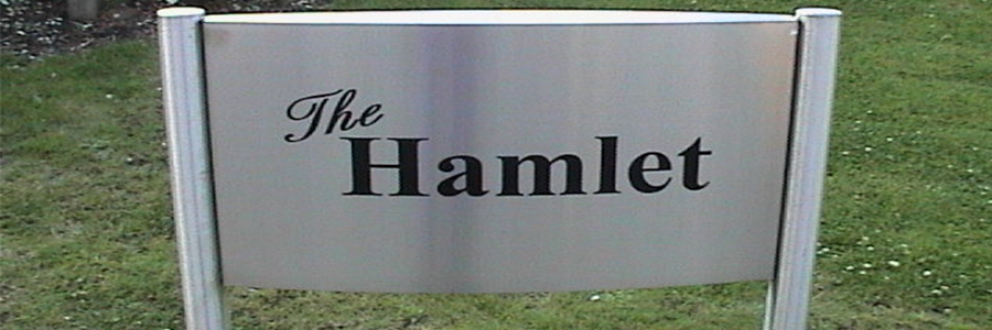 external stainless steel sign