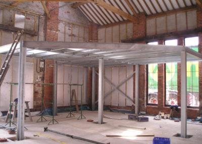 Structural Steel Mezzanine Floor Galv